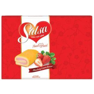 Bánh Hữu Nghị Miniroll Cake Salsa Vị Dâu 396g